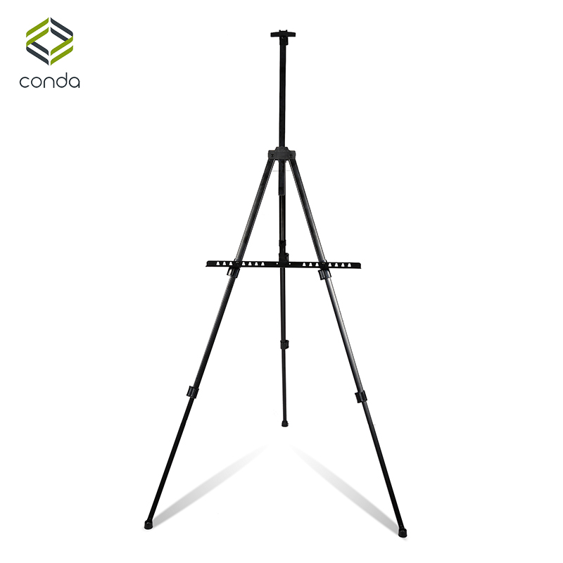 CONDA Sketch Easel for Artist Painting Aluminum Alloy Display Easel Adjustable Metal Portable Folding Easel Drawing Outdoor in the winter of 2016 new product the national wind original design thickened cowboy cotton women cotton coat loose big yards