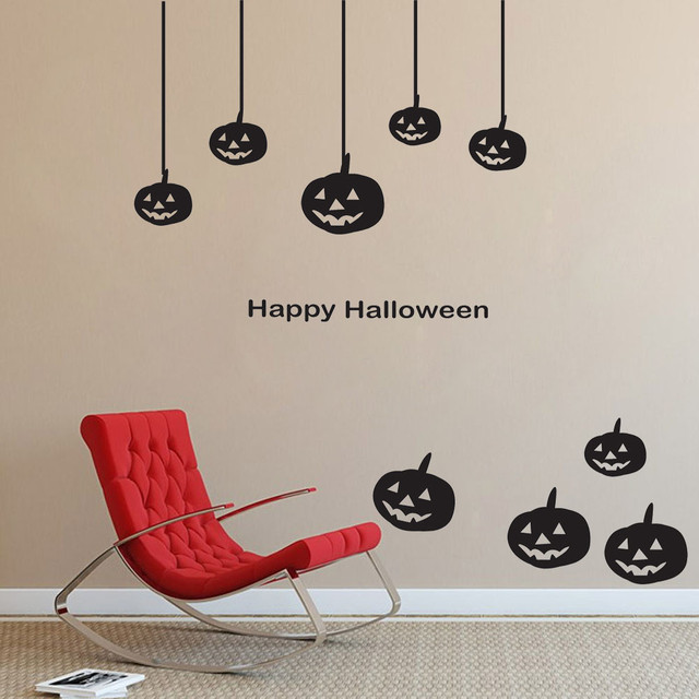 Happy Halloween Pumpkin Wall Sticker Vinyl Wall Decals Festival - Vinyl wall decals home party