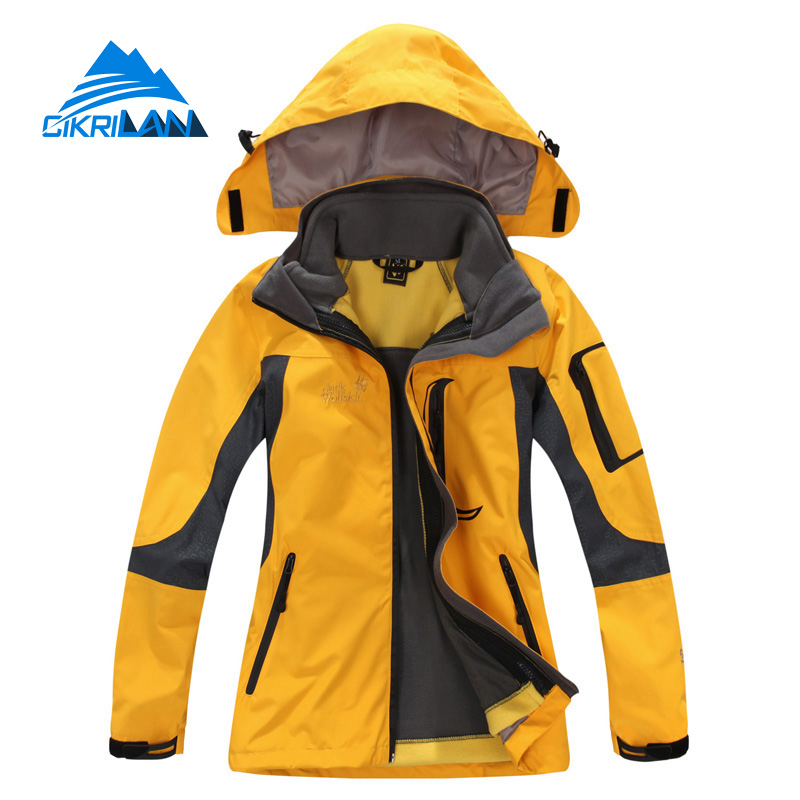 Ladies 3in1 Camping Windbreaker Waterproof Jaqueta Feminina Outdoor Leisure Sports Hiking Winter Jacket Women Climbing Ski Coat