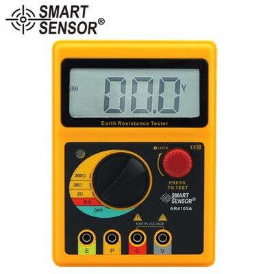 Capteur intelligent AR4105A testeur de résistance à la terre numérique 0-200 Ohm 2/3 lignes