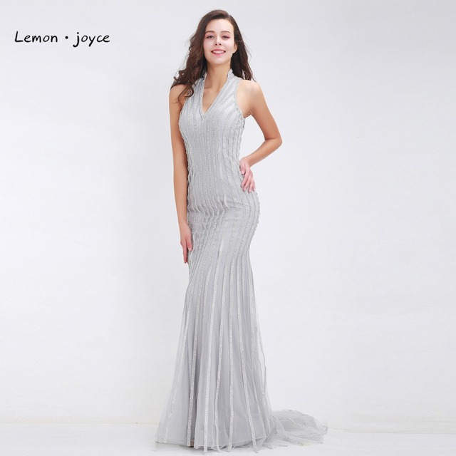 Sexy Evening Party Dress for Woman Beading Maxi Dress Formal Prom ...