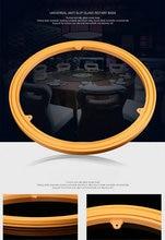 16po / 40 CM jaune couleur forte caoutchouc antidérapant verre Universal rotatif Base Table à manger plateau palier TV pied pivotant