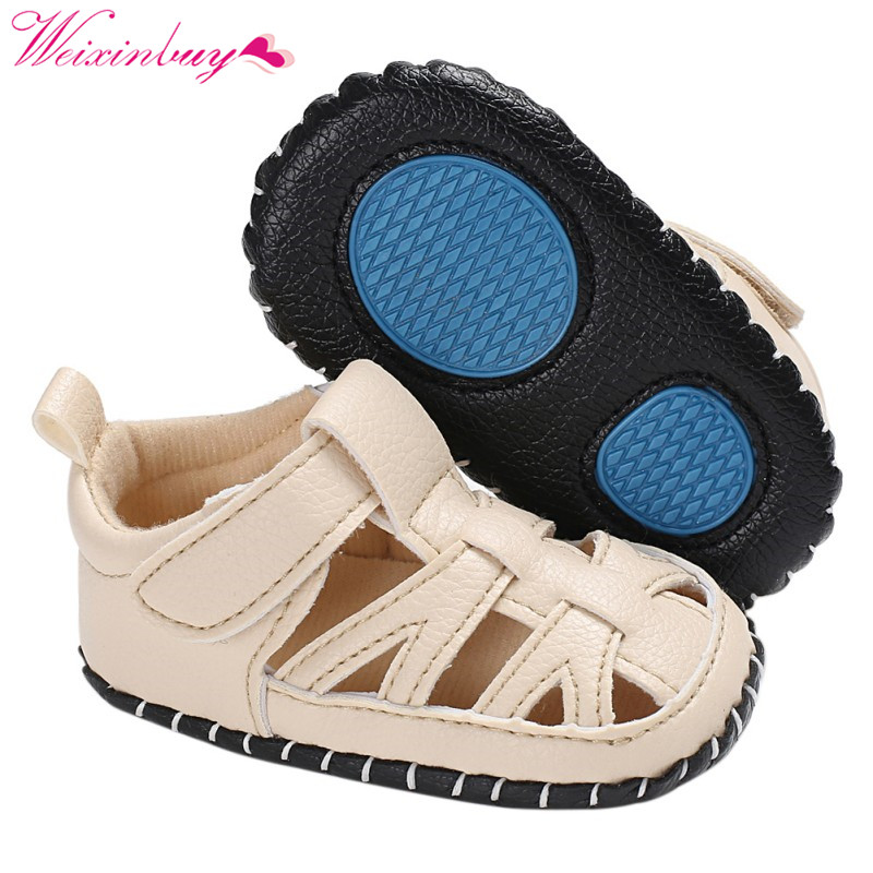 Summer PU Sandals for Boys Baby Shoes Breathable PU Baby Boy Sandals Fashion Beach Sandals Baby Girl Shoes