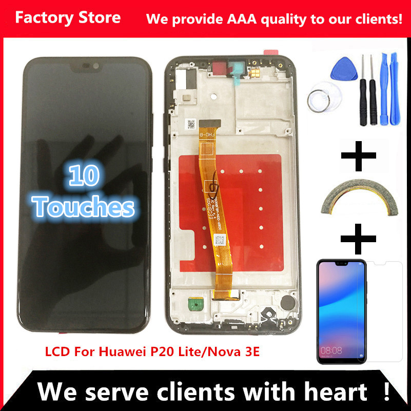 2280*1080 AAA Quality LCD With Frame For HUAWEI P20 Lite Lcd Display Screen For HUAWEI P20 Lite ANE-LX1 ANE-LX3 Nova 3e(China)