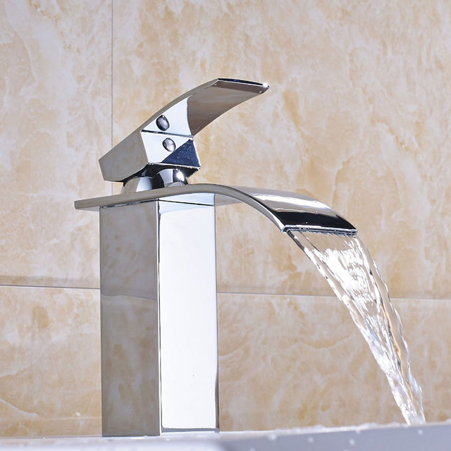 Hownifety Hot Basin Sink Faucet Hot and Cold Mixer Tap Deck Mounted Single Hole Torneira Short Style