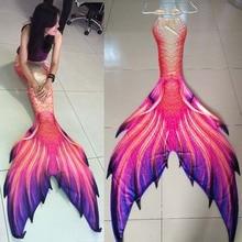 3PCS/Set Adults Mermaid Tail With Monofin Swimmable Flipper for girls kids Swimsuit Birthday gifts Swimwear Bikini Suit Costumes