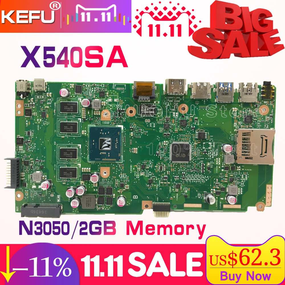 KEFU For ASUS X540SA X540S F540S CPU/N3050 2GB/Memory laptop motherboard tested 100% work original mainboard цена