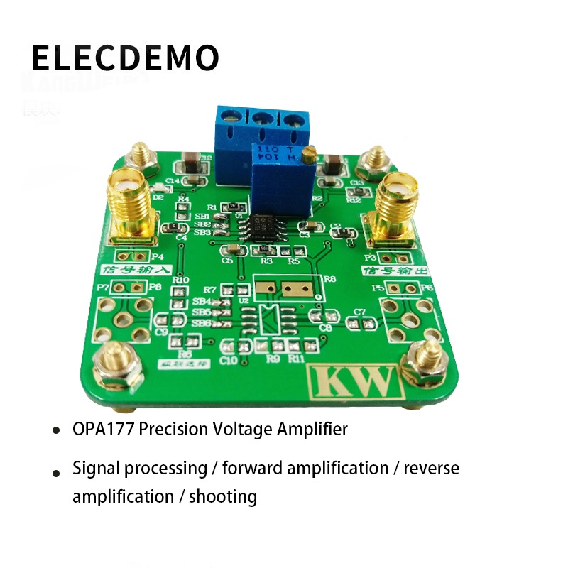 OPA177 Module Precision Voltage Amplifier Signal Processing Forward Amplification Reverse Amplification Function demo Board-in Demo Board Accessories from Computer & Office