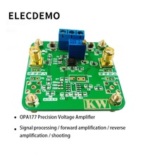 OPA177 Module Precision Voltage Amplifier Signal Processing Forward Amplification Reverse Amplification Function demo Board 1pc lm358 100 gain signal amplification module operational amplifier dc5 12v hot worlwide