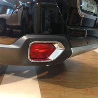 Abaiwai For Subaru Outback 2015 2016 2017 Rear and Head Fog Lights lamp Cover Trim Stickers ABS Chrome Car Styling Accessories
