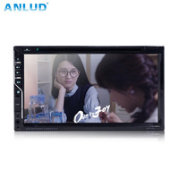 ANLUD Car Monitor DVD GPS MP5 Player 6.95 Touch Screen 2DIN Autoradio In Dash FM Radio with Remote for Rear View Camera