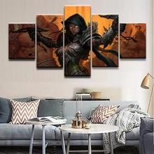 Demon Hunter Diablo III Game Painting Canvas Wall Art HD Print Home Decor 5 Piece For Living Room
