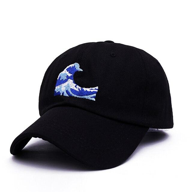 TUNICA 2017 nueva gorra de béisbol Unisex con bordado de ondas gorra de moda  gorra ajustable 093447f2217