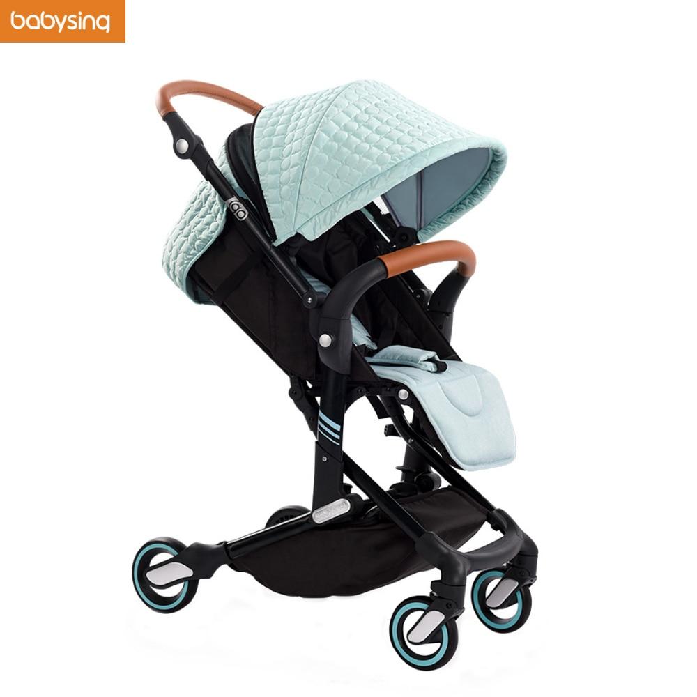 ON SALE Babysing I-GO Push Car High Landscape Portable Lightweight Baby Strollers Foldable Baby Pram Pushchair Kinderwagen