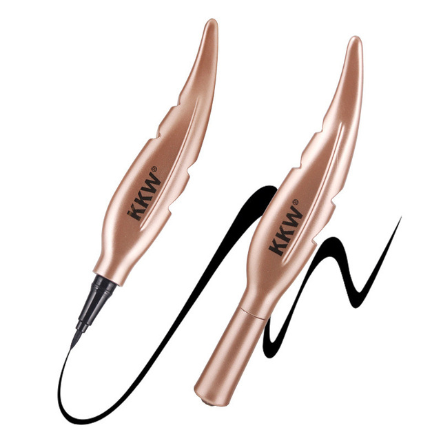 1 Pc NEW Feather Style Black Long-lasting Non-decolorization Waterproof Eyeliner 2