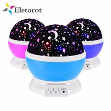 Stars Starry Sky Night Light LED Projector Luminaria Moon Novelty Table Night Lamp AAA Battery USB Starlight Children Gift(China)