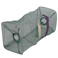 1pcs Hot Crab Foldable Fish Net Crawdad Shrimp Minnow Bait Trap Cast Dip Nylon Fishing Net Cage High Quality Fishing Cage
