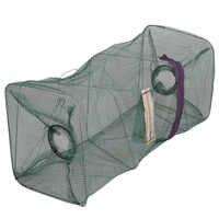 8 Hole Mesh Folding Fishing Net Tackle Portable Hexagon Fish Network Casting Nets Crayfish Shrimp Crab Catcher Tank Trap Cages
