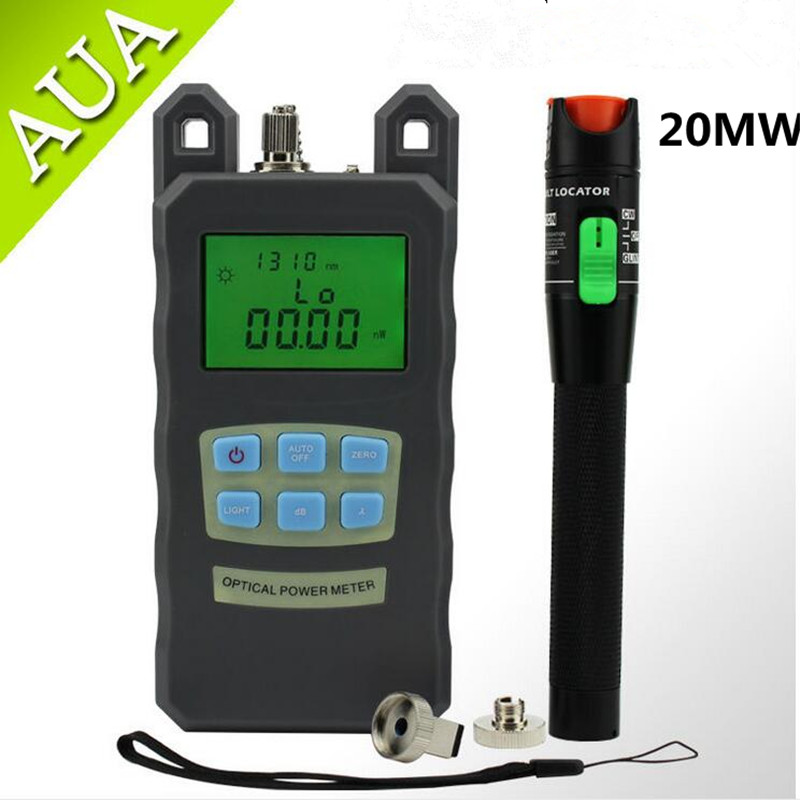 Optical Fiber Power Meter -70dBm~+10 dBm Fiber Optic Power And 20mW  15KM Visual Fault Locator Fiber Optic Cable TesterOptical Fiber Power Meter -70dBm~+10 dBm Fiber Optic Power And 20mW  15KM Visual Fault Locator Fiber Optic Cable Tester