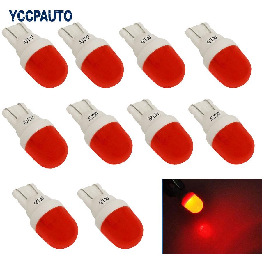 10 шт. W5W светодиодные габаритные огни 191 168 T10 керамические лампы белые красные желтые синие автомобильные дверные боковые клиновые огни 2SMD ...