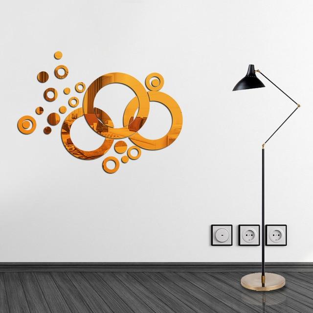 Beautiful Acryl Spiegel Wasserdicht Kreis Wandaufkleber Bad Dekorative Aufkleber  Wandbild Kinder Wandtattoos Autocollant