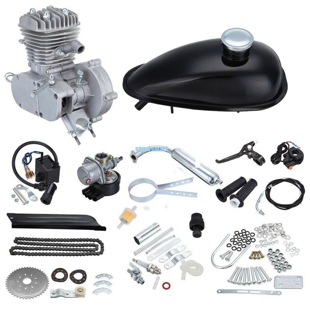 Kit de Motor de gasolina de bicicleta de 2 tiempos 80cc para bicicleta de montaña eléctrica de bricolaje, conjunto de Motor de gasolina