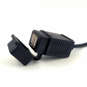 للماء شاحن USB مزدوج محول مع Powerlet الدين هيلا المقبس الاتحاد الأوروبي نوع ل BMW دراجة نارية
