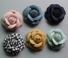 120ps/lot new arrival DIY hand made camellia flower for hair accessories high quality Artificial garment