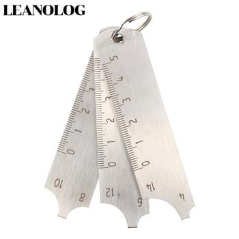 цена на Welding tools Stainless Steel  Welding Gauge Key Pocket Gage 3 Pcs Gauge Set Weld Seam Test Ulnar Inspection Ruler