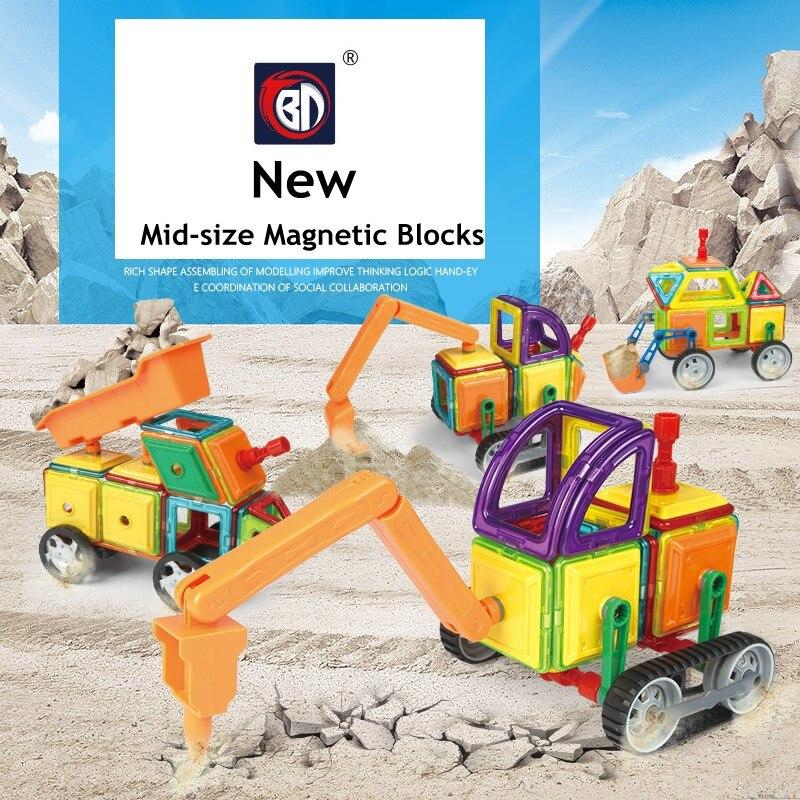 Mid Size 75 76 78 pcs Magnetic Designer Construction Set Model Building Toy Plastic Educational Magnetic