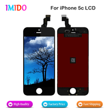 100PCS/LOT Great AAA Lcd For Black iPhone 5C LCD Screen Display with Touch Digitizer Assembly Fast Shipping