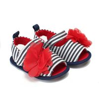 2019 Baby Shoes First Walkers Canvas Baby Girl Shoes Summer Stripe Embroidery Toddlers Girls Footwear