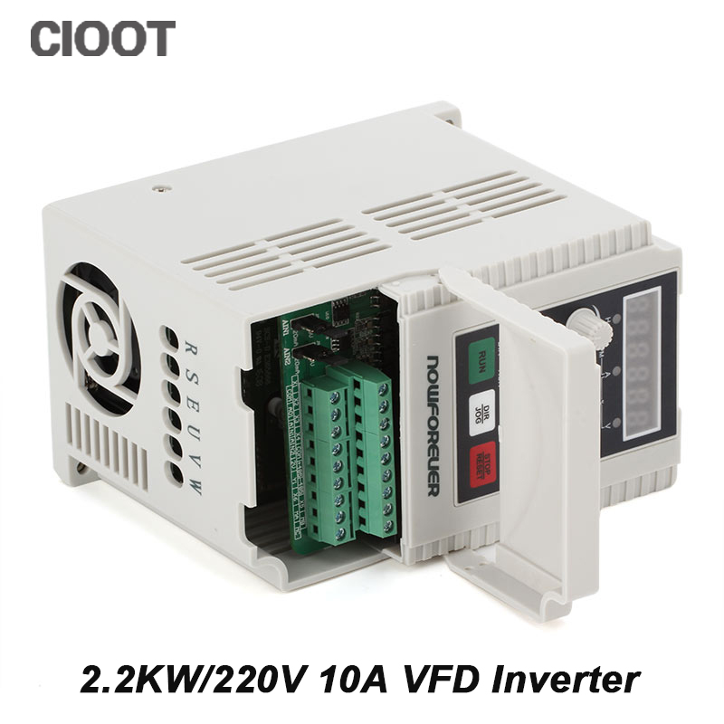 2.2KW 220V 1HP Variable Frequency Drive VFD Inverter Output 3H 400Hz 10A Inverter delta inverter vfd variable frequency drive vfd150b23a 3phase 220v 15kw 20hp 0 1 400hz wood carving