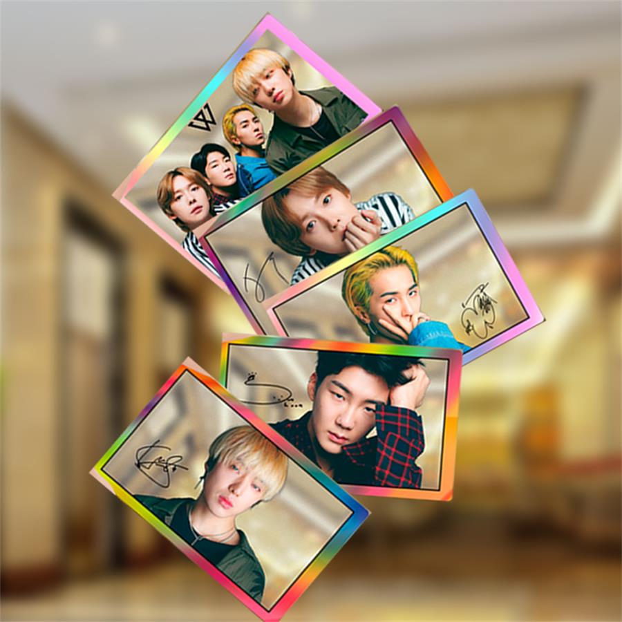 Kpop Winner Members PVC Clear Photo Card Collective Cards Photocard 5pcs