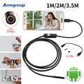 Endoskop 7mm 1 M 2 M 3.5 M USB Câmera de Inspeção Endoscópio Android Telefone IP67 Câmera OTG USB Endoscoop Borescope câmera Endoscopio