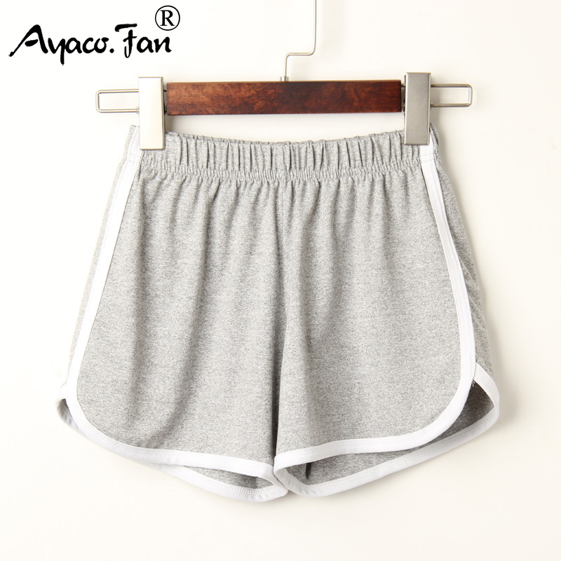 Sports Shorts Ladies Summer 2019 Casual Shorts Women Cozy Breathable Elastic Waist Shorts Candy Colors Shorts Female