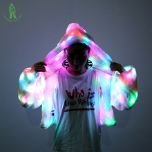 Free Shipping 7color LED lighting jacket for stage dancer club DJ Party wear luminous coat clothing