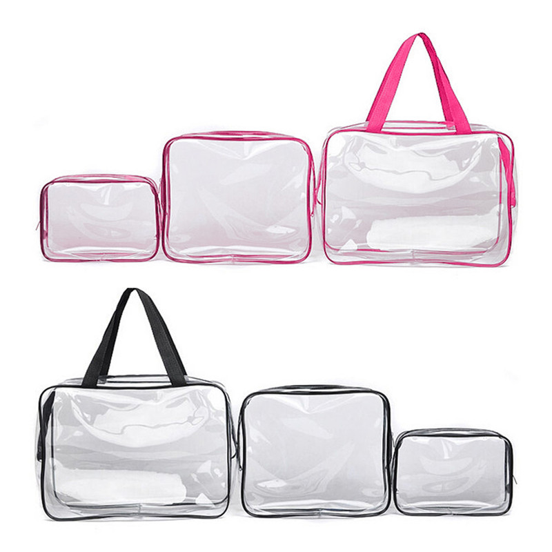 New Home Storage Bags Clear Cosmetic Toiletry PVC Travel Wash Makeup Bag 3pcs Brand high quality free shipping-in Storage Bags from Home u0026 Garden on ...  sc 1 st  AliExpress.com & New Home Storage Bags Clear Cosmetic Toiletry PVC Travel Wash Makeup ...