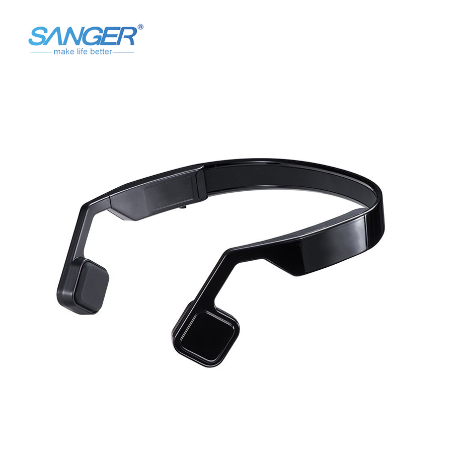 SANGER Bone Conduction Headphones Open-ear Bluetooth 4.1 Wireless Sports Headset Earphones with Mic Sweatproof for Smartphones цена