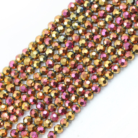 ZHUBI Crystal Glass Drop/Square/Round Charms Beads 6mm For DIY Making Jewelry Accessories
