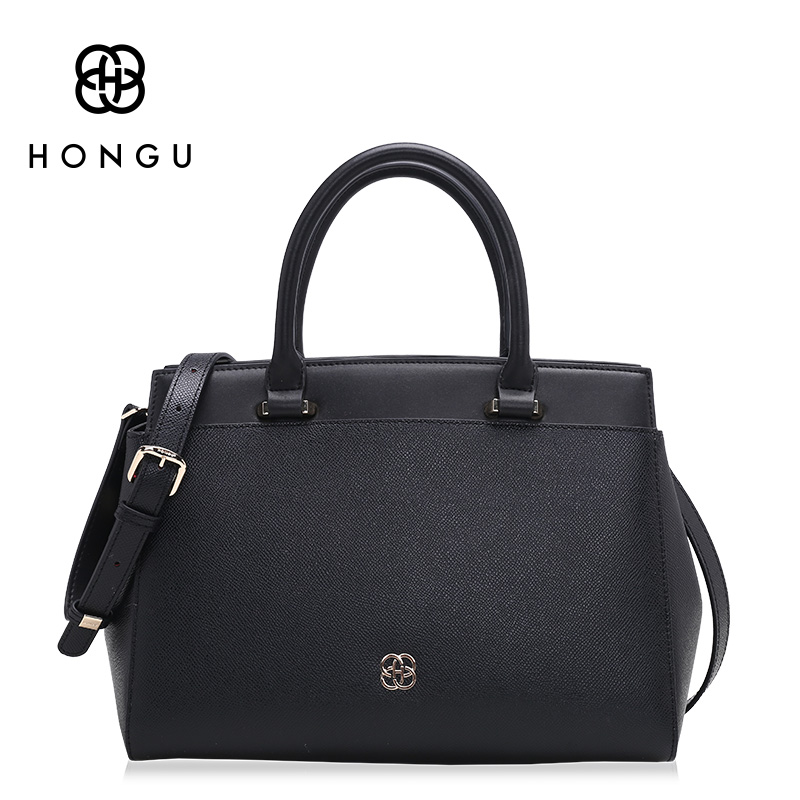 Hongu Light Luxury Genuine Leather Women Tote handbags Famous Brand Lady Shoulder Bags Versatile Simple Shell Bag designer louis women shoulder bags leather handbags shell crossbody bag brand design small single messenger bolsa tote sweet fashion style
