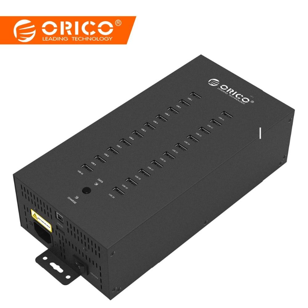 ORICO IH20P USB HUB 20 USB pordid Tööstuslikud USB2.0 HUB USB - Arvuti välisseadmed - Foto 1