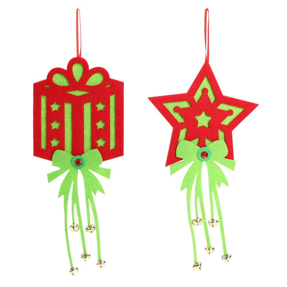 Christmas tree ornament display - 2 Xchristmas Ornaments Non Woven Fabrics Bell Christmas Tree Ornaments Home Window Displays Christmas