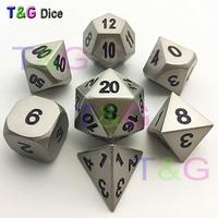2015 Hot Top Quality Metalic 7 Dice Set D4 D6 D8 D10 D D12 D20 Polyhedral