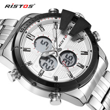 RISTOS New Fashion Multifunction Men Sport Watches Casual Male Chronograph Digital Wristwatch Relojes Masculino Hombre 9345