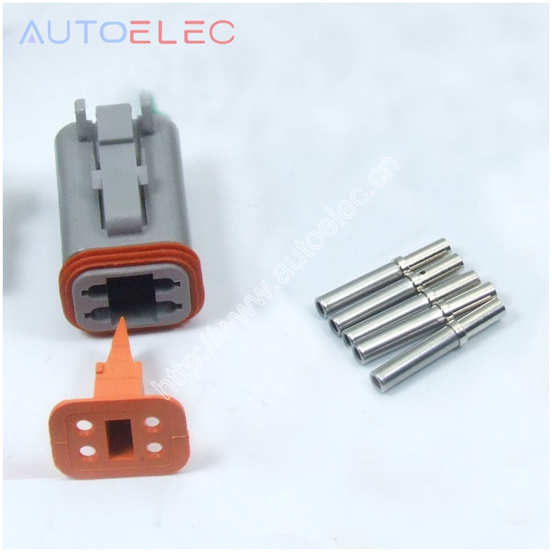 100 sets DT06 4S 4Pin waterproof Wire Connector solid Crimper terminals for SOLENOID VALVES Harley boats