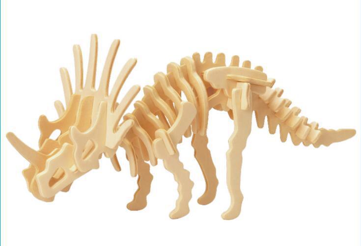 Dinosaur 3D Taxta Puzzle DIY Simulyasiya Model Uşaq Təhsil - Bulmacalar - Fotoqrafiya 3