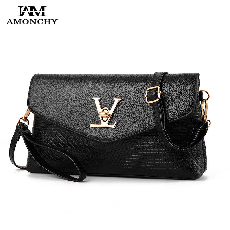 AMONCHY 2017 New Women Shoulder Crossbody Bags Small Famous Brand Bag Handbags High Quality PU Leather Lady Messenger Bag Clutch new summer brand women messenger bag pu leather women shoulder bag lady vintage small crossbody bags