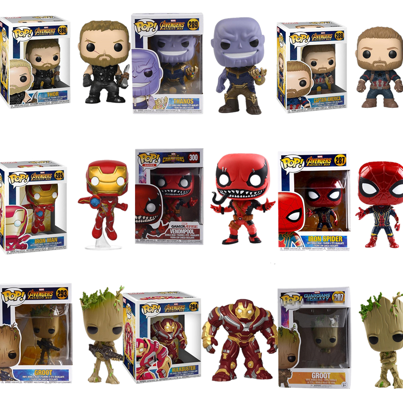 Avengers 3 Infinity War POP Figures Model Toy Thanos Captain America Iron Man Thor Spiderman Death Samur With Original Box ...