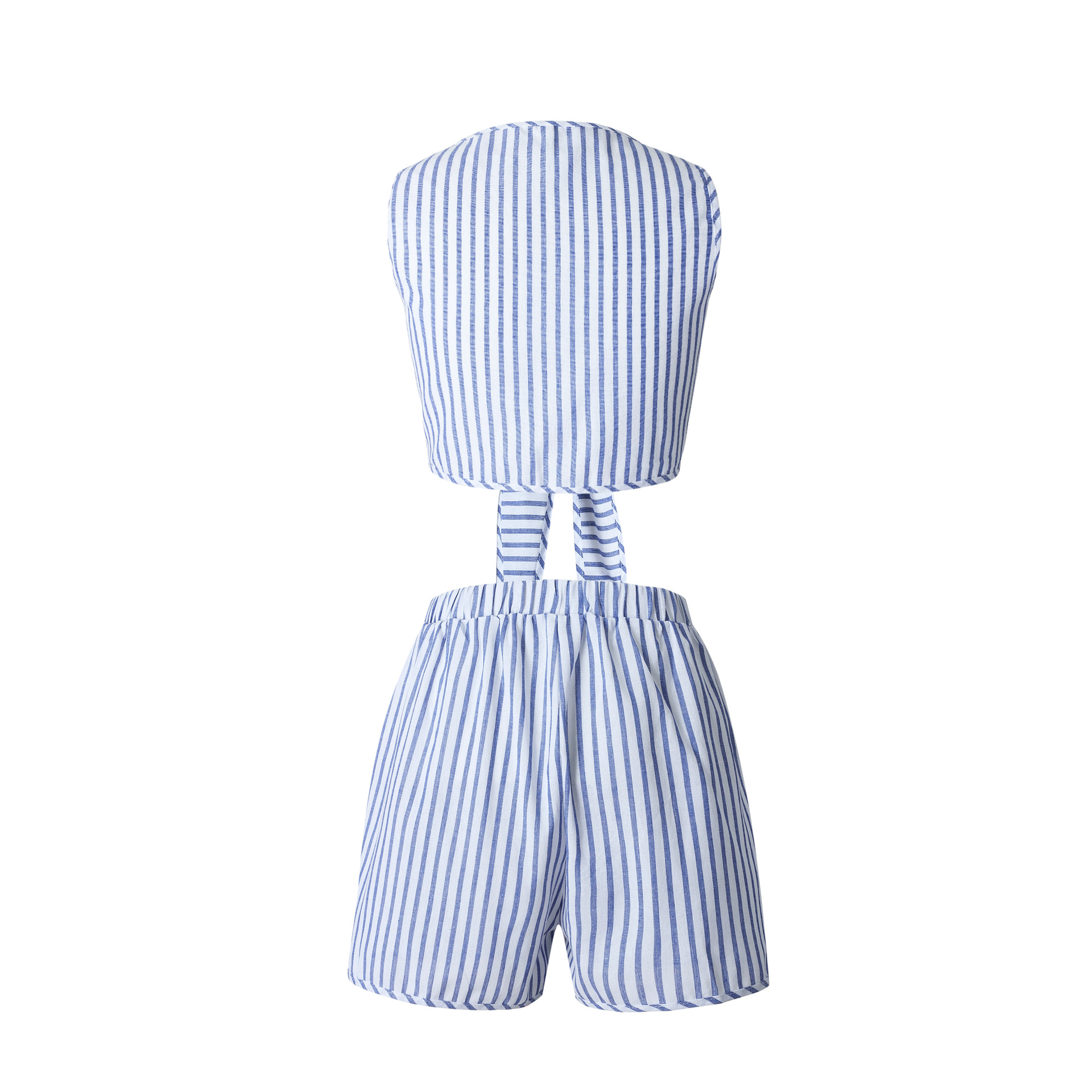 HTB1adrZQVXXXXXNXpXXq6xXFXXXH - FREE SHIPPING Summer Sexy Blue Striped Women Suits Sleeveless Deep V Neck Lace Up Crop Top + Short Set Fashion Beach Two Piece Set JKP287